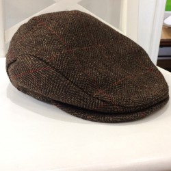 Gorra Irlandesa en Tweed Marrón