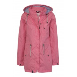 Impermeable rosa
